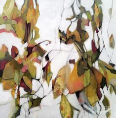Abstract Painting - Spring Green by Wendy Westlake Abstract Nature, Abstract Flowers, Watercolor Paintings Abstract, Landscape Paintings, Watercolour, Plant Painting, Botanical Art, Painting Inspiration, Flower Art