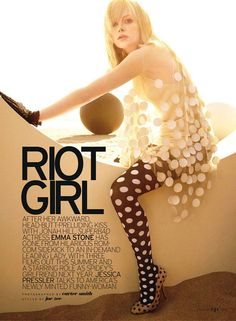 Love the polka on polka in Carter Smith's latest editorial for Elle US, July 2011