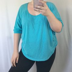 Victoria's Secret Flowy Top Victoria's Secret sky blue top. Flowy and loose. The sleeves are the batwing style. 60% cotton, 40% polyester. PINK Victoria's Secret Tops