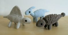 Amigurumi Dinosaur pattern @Angela Will you teach me how to crochet so I can make these?!