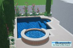 Small Pool Designs | small pool with spa