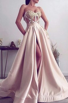 long prom dresses,ball gown evening dress,blush pink bridesmaid dress sexy evening gowns · Hiprom · Online Store Powered by Storenvy Dresses Elegant, Pretty Dresses, Sexy Dresses, Beautiful Dresses, Fashion Dresses, Formal Dresses, Long Dresses, Wedding Dresses, Sexy Gown
