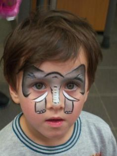 Easy elephant face paint mask. Must remember for the next festival   fair