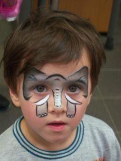 Maquillage d'éléphant pour enfant