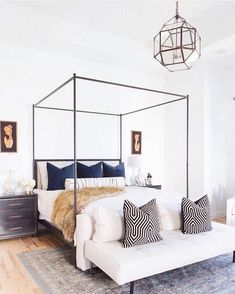 Love  finding bedrooms like this one by @ccandmikecreative - definitely #copycatchic approved!  What do you adore in this bedroom? (Find my pick below.) #CopyCatChic