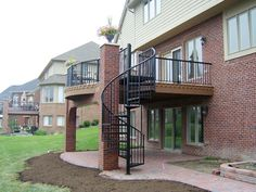 1000 images about deck ideas on pinterest decks second for Two story spiral staircase