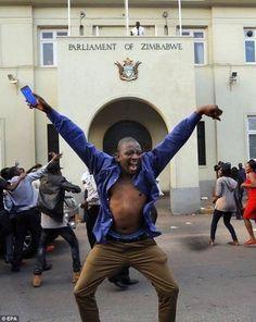 PsBattle: This Zimbabwean celebrating the resignation of dictator Robert Mugabe : photoshopbattles