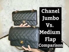 "Chanel Jumbo Flap vs Chanel Medium Flap | Chanel Purses Comparison | Color Black | Minimalist Style  In todays video I am going to do a comparison review between Chanel Jumbo Flap vs Chanel Medium Flap in the color of black. The Chanel Jumbo Flap dimensions are 30 x 20 x 10 cm or 11.8"" x 7.9"" x 3.9"".   The Chanel Medium Flap dimensions are 25.5 x 16 x 7.5 cm or 10"" x 6.3"" x 3"".  I hope youll enjoy!  Please support my channel by subscribing.  It's free :D Much Love…"