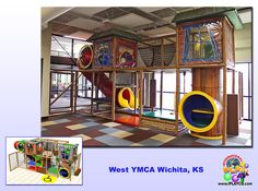 YMCA installation by International Play Company #Iplayco - we designed, manufactured and installed this play structure for YMCA in Wichita KS. #playground #structures #equipment #softplay #YMCA #Y #AYP Partner www.iplayco.com