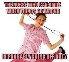 Nurses always smile... 	  #nursingwithoutwalls #nurselife