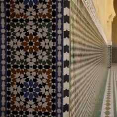 Mausoleum of Moulay Ismail, Meknes - Zellij tiles