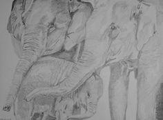 Elefantenfamilie - Teile deine Kunstwerke