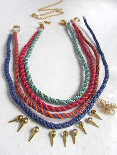 TUTORIAL ** collar con cordón