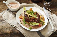 Bavette met een saus van roompaté | Vleeschwaar recept van Alain Caron