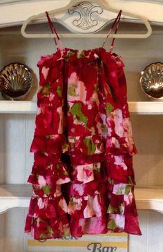 Gap Girls Twist And Shout Floral Pink & Red Ruffle  Dress Size 10 Beautiful!! #GapKids #DressyEverydayHolidayPageant
