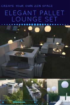 I had the idea for this Elegant Garden Lounge Set before I even had any supplies! Our backyard area wasn't what I wanted, so I figured that change is good! How I started my Elegant Pallet Lounge Set! Find your inspiration and dream big! First, find your inspiration! I found several... #Design, #Garden, #Outdoors, #PalletLounge, #PalletLoungeSet, #PalletSofa, #PalletTable, #RecyclingWoodPallets