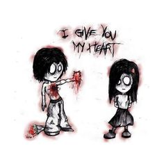 i love you emo ❤ liked on Polyvore featuring emo, backgrounds, drawings, random, pics, quotes, fillers, text, phrase and saying