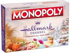 Hallmark Channel Monopoly Goes on Sale This Week - Beauty Black Pins Monopoly Board, Monopoly Game, Hallmark Christmas, Christmas Countdown, Christmas Board Games, Hallmark Cards, Hallmark Movies, Knitting Club, Christmas Tree Farm