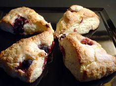 Coconut Scones Beautiful, flaky, coconut scones made with strawberry guava jam... a delightful breakfast bread!