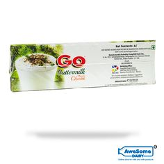 GO Buttermilk: GO Buttermilk is made with milk solids to achieve the perfect texture. Only natural flavors and flavoring substances are added, which makes it a perfectly blended refresher. The 6 layered packaging protection to the product ensures 100% protection from adulteration and is sterile and tamper proof The dairy-based drink is UHT(ultra heat treatment) treated which kills all germs and stays fresh until opened. The tetra Pak makes it easy to carry and use the product with ease.