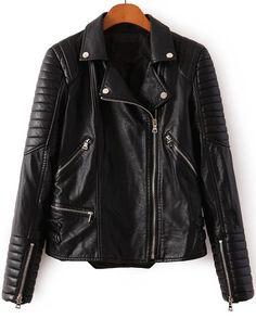 Shop Black Lapel Long Sleeve Zipper Crop PU Jacket online. Sheinside offers Black Lapel Long Sleeve Zipper Crop PU Jacket & more to fit your fashionable needs. Free Shipping Worldwide!