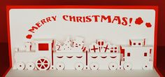 Christmas Train PopUp Card by PeadenScottDesigns on Etsy, $6.50