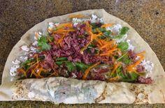 Pitadas da Bella: Sanduiche de carne de sol no pão folha