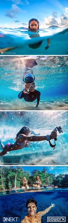 Capture epic over-under photos with the KNEKT GoPro Dome Port & GoPro