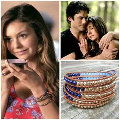 Items similar to Beaded Leather Wrap Bracelet 4 or 5 Wrap with Blue Riverstone, Periwinkle and Gold Glass Beads on Saddle Leather Seen on The Vampire Diaries on Etsy Etsy Jewelry, Charm Jewelry, Jewlery, Handmade Jewelry, Handmade Items, Saddle Leather, Leather Cord, Beaded Leather Wraps, Etsy Crafts