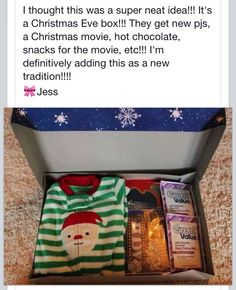 This is such an awesome idea.  This Christmas Eve I am starting this tradition for the little ones and some big ones in our family.