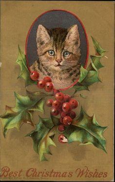 Artist Unknown, vintage Christmas postcard