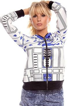 R2D2 sweatshirt women, star wars fan gear