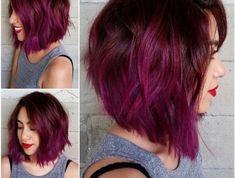 tendance-carré-dégradé-coloration-cheveux-framboise