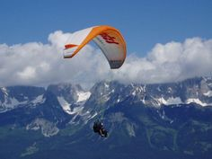Paragliding, up there...