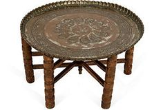 One Kings Lane - House of Honey - Vintage Moroccan-Style Table