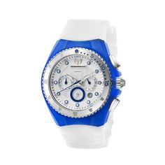 TechnoMarine Unisex 109013 Cruise Beach Blue/White Interchangeable Strap Watch TechnoMarine. $260.99. Precise Japanese Miyota FS23 Quartz movement. Chronograph textured dial with blue markings. 316L stainless-steel unidirectional rotating bezel. Water-resistant to 660 feet (200 M). Comes with Blue and White Gel Straps & Covers with a Stainless-steel single buckle clasp