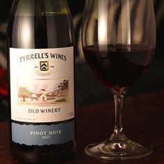 Trying this out as part of our #bargainhunting <$15 #wineassignment but also keen to investigate #HunterValley #Pinot Noir as well as a warmup for @Pinot_palooza on Monday. Tyrell's Old Winery Pinot Noir 2015 After a bit of time in the glass you get strawberry on the aroma Starts with bright red fruit with a surprisingly thick smooth tannic body Like a female crossfitter it is feminine with a muscular body.  Not bad not great but good value for its price $12 #wine #winelover #winetasting…