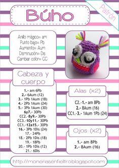 Delicadezas en crochet Gabriela: Buho amigurumi patrón