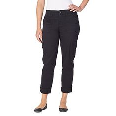 Special Offer: $18.99 amazon.com Versatility is key with these women's Gloria Vanderbilt convertible cargo pants. Features: ribbed knit elastic waistband with YKK zip and button closure, 5 belt loops to accommodate up to a 2.25 inch belt, 2 front side slant pockets, 2 side and back...