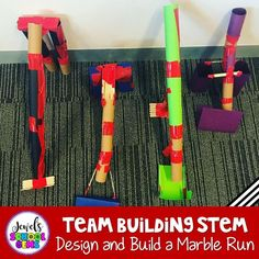 Team Building Back to School STEM Activity from the Beginning of the Year STEM Bundle by Jewel's School Gems. This fun Marble Run Team Building STEM Challenge is perfect for the first day or week of back to school! Challenge your students to design and build a free-standing marble run out of simple materials. Elementary children will not only design and build, but also develop and improve teamwork in the classroom. #backtoschoolstemactivities
