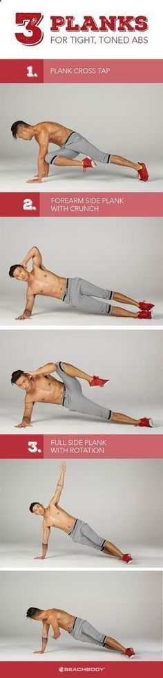 Belly Fat Workout - Plank exercises benefits are many. The plank is one of the best overall core conditioners around, and unlike crunches, it keeps your spine protected in a neutral position. Here are 3 ab workouts to strengthen core and lose excess belly fat. Beachbody workouts // Plank exercises // How to get toned abs // how to get a great core // easy core workouts // plank workouts // Beachbody // Beachbody Blog Do This One Unusual 10-Minute Trick Before Work To Melt Away 15+ Poun...