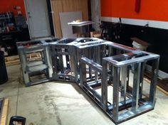 Picture of Steel Framing for an Outdoor Kitchen