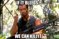 """If it bleeds... We can kill it."" 
