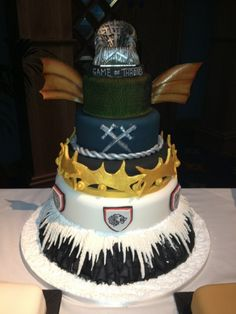 Game of Thrones cake by Contemporary Cakes.