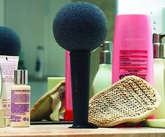 Shower Sponge Microphone - we would never get Charlotte out of the shower!