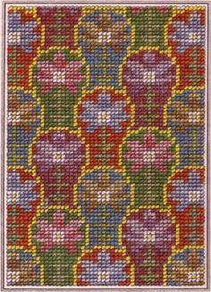 Berlin woolwork chart Mini Cross Stitch, Cross Stitch Borders, Cross Stitch Flowers, Cross Stitch Charts, Cross Stitching, Cross Stitch Embroidery, Cross Stitch Patterns, Broderie Bargello, Bargello Needlepoint