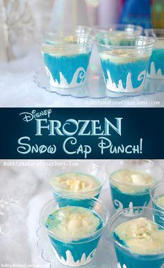 Disney FROZEN Snow Cap Punch! - blue Hawaiian punch, lemon lime soda, and vanilla ice cream @Tabitha Edwards Seebart