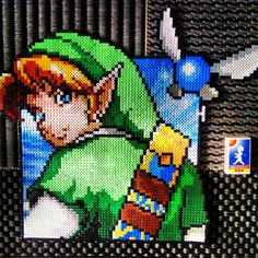 Link Zelda perler beads by uselesstrinkets