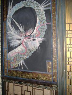 mural lateral puerta china DIY