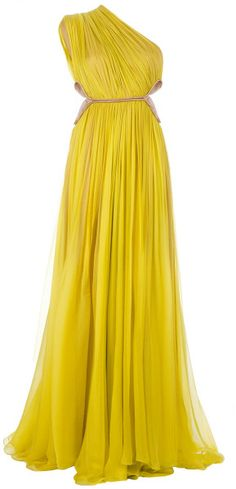 Maria Lucia Hohan Yellow Keisha Dress    jaglady